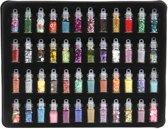 Glitter Set voor Slijm - Nagels - Knutselen - 48 flesjes