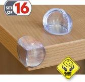 Siliconen Hoekbeschermers Set - Transparante Tafelhoekjes - Tafel Hoekbescherming - Tafelhoek Beschermers - 16 Stuks