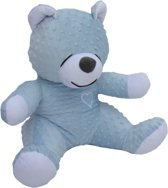 teddebeer / knuffelbeer 45cm - slaapknuffel babykamer - Hemelsblauw