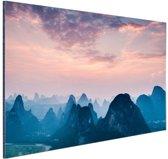Berg horizon Aluminium 30x20 cm - klein - Foto print op Aluminium (metaal wanddecoratie)