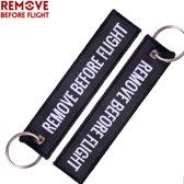 Remove Before Flight - sleutelhanger - Keychain - Motor sleutelhanger - 2 stuks
