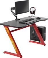 Computer game bureau gaming desk Thomas rood zwart ideaal voor uw game set up 120 cm x 60 cm