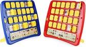 Wie is het? – Kinderspel - Luxe-editie – Inclusief Puntenteller Scorebord – 2 verschillende personages – Gezelschapsspel – Familiespel - Staand - Uitklapbaar – 25 x 25 CM