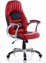 hjh office Racer 200 - Bureaustoel - Gaming - Kunstleder - Rood / zwart