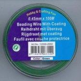 Rijgdraad met coating, Groen, 0,45 mm x 100 meter / verpakking.