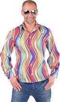 Hippie Kostuum | Hemd Batik Goed Karma Man | XL | Carnaval kostuum | Verkleedkleding