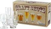 Bierproefglazen - Bierproef glas set - Proefglas - Bier Proeverij - Set van 4 Mini glazen
