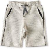 Little Label contrast shorts baby jongens - creme black stripe