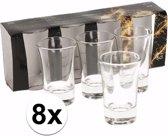 8x shotglazen / borrelglaasjes - 5 cl - glas