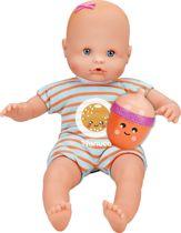 Nenuco pop met fles-rammelaar - blauw - sinaasappel