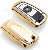 BMW SleutelCover - Goud / TPU sleutelhoesje / beschermhoesje autosleutel