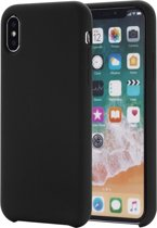 Mobigear Liquid Silicone Zwart iPhone Xs Max