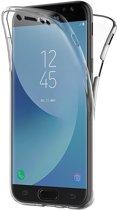 Samsung Galaxy J3 (2017) - Volledige 360 Graden Bescherming (Voor en Achterkant) Edged Siliconen Gel TPU Case Screenprotector Transparant Cover Hoesje - (0.5mm)