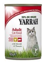 Yarrah brokjes biologische kip en rund - 6 st à 405 gr