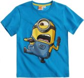 Minions-T-shirt-met-korte-mouw-turquoise-maat-116