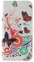 Huawei P10 Telefoonhoesje Vlinders met Opbergvakjes