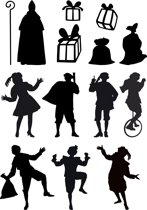 Uitbreidingsset stickers Sinterklaas 2, HERBRUIKBAAR