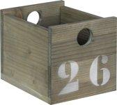 Bopita - Basic Wood - Bakje Mini - 20 X 15 X 15 Cm - Stone Wash