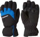 Ziener Lizzard AS Skihandschoenen Junior  Wintersporthandschoenen - Unisex - zwart/blauw Maat 4