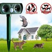 DVSE - Verjager katten, ratten, vogels, vossen en ongedierten. Ultra sonic geluidsgolven 25Khz voor in de tuin. Op zonne energie