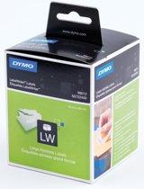 2x Dymo etiketten LabelWriter 89x36mm, wit, 520 etiketten