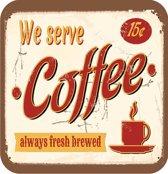 Papillon Onderzetters Vilt 6 stuks Coffee / Koffie
