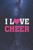 I Heart Love Cheer - Cheerleading Cheerleader Journal