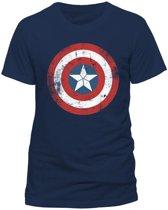 Marvel Civil War Captain America Distressed Shield Logo TShirt XL