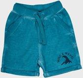 Minymo - jongens sweat broek - wave - blauw - Maat 92