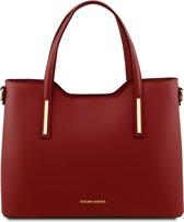 Tuscany Leather Dames Handtas Olimpia - Rood - Ruga leer - TL141412