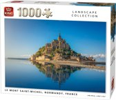 King Puzzel 1000 Stukjes (68 x 49 cm) - Mont Saint Michel Frankrijk - Legpuzzel - Volwassenen