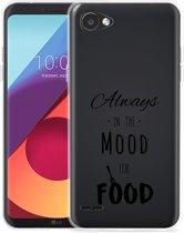 LG Q6 Hoesje Mood for Food Black