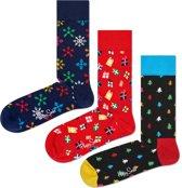 Happy Socks Gift Set Happy Holidays - 3-pack - Maat 41-46
