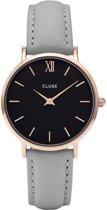 CLUSE CL30018 Minuit - Horloge - Dames - Grijs - Ø 33 mm