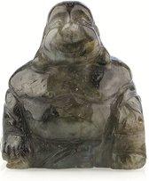 Edelsteen Boeddha Labradoriet - groen