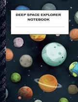 Deep Space Explorer Notebook: Boys' and Girls Fun Handwriting and Printing Practice Notebook for Grades K-2-3