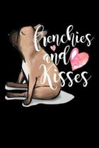 Frenchies And Kisses: Composition Lined Notebook Journal Funny Gag Gift