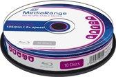Bluray MediaRange 25GB 10pcs BD-RE Spindel 2x