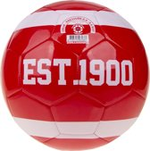 Ajax mini bal - wit/rood