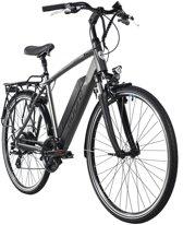 """Adore Fiets (elektrisch) Elektrische fiets 28"""" Ancona Grijs 24 versnellingen - 53 cm"""