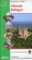 Karte des Schwäbischen Albvereins 24 Albstadt - Balingen 1 : 35 000