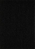 Hoogpolig Shaggy Vloerkleed Loca 67x230 CM - Zwart