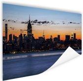 New York City Poster 120x80 cm - Foto print op Poster (wanddecoratie woonkamer / slaapkamer) / Steden Poster
