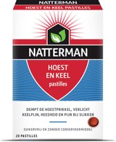Natterman Hoest en Keel pastilles - 20 st - supplement