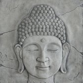Wandplaat Boeddha hoofd | GerichteKeuze