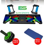 Elite Sportz Full Body Program – Power push up bord – Opdrukken met steunen – ABS Wheel – Buikspier wiel – Yoga mat – Fitness mat