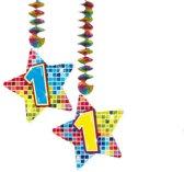 Spiraalversiering Birthday Blocks 1 jaar - 2 stuks