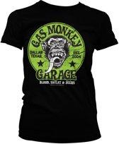 GAS MONKEY - T-Shirt Green Logo GIRL (S)