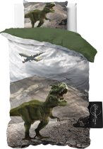 ST4KIDS Dinosaurus - Dekbedovertrek - Eenpersoons - 140x200 + 1 kussensloop 60x70 - Groen