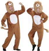 Leeuw & Tijger & Luipaard & Panter Kostuum | Full-Body Pluche Leeuw | Volwassen | Medium / Large | Carnaval kostuum | Verkleedkleding